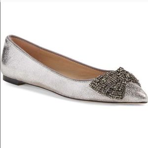 Tory Burch Vanessa embellished bow flats